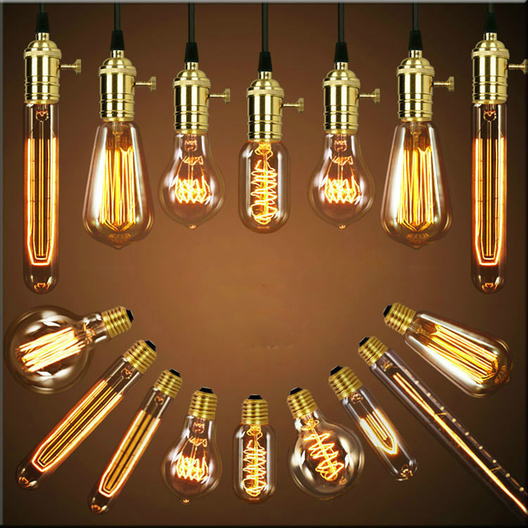Antique Vintage Retro Edison Light Bulbs 220V/110V E27 40W Incandescent Light Bulbs G80 G95 A19 T10 T45 T185 T300 ST64