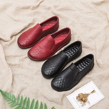 AARDIMI Vintage Genuine Leather Women Loafers Spring Solid Flats Shoes For Woman Casual Cow Leather Shoes Ladies Mocassins