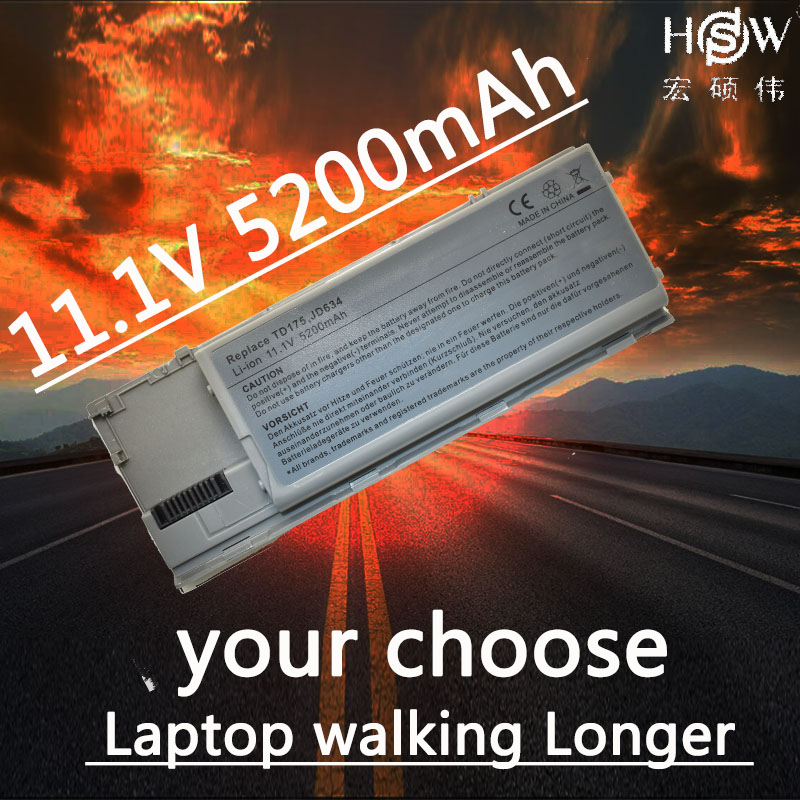 HSW 5200mAh Laptop Battery for Dell Latitude D620 D630 D631 M2300 KD491 KD492 KD494 KD495 NT379 PC764 PC765 PD685 RD300 TC030 hsw 7800mah laptop battery for dell latitude d620 d630 d631 m2300 kd491 kd492 kd494 kd495 nt379 pc764 pc765 pd685 rd300 tc030