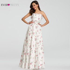 Image 5 - 2020 New Bridesmaid Dresses Ever Pretty EP07242 Women Long Chiffon Printed Beach Dresses A line Wedding Guest Party Dresses