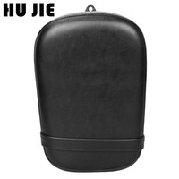 Motorcycle Pillion Passenger Seat Rear Seat PU Leather Cafe Racer Seat Cover Cushion For Honda VT750/400 1998 2003 Scooter Seat