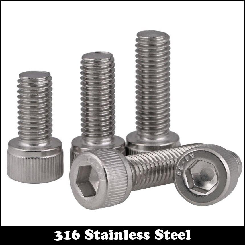 Lot de 100/vis M6/x 40/Roue /à six pans creux DIN 912/A2/en acier inoxydable