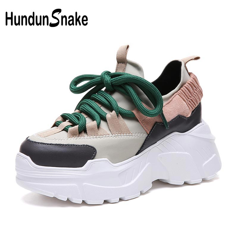 Platform Chunky Sport Shoes Woman Sneakers Women's Running Shoes For Women Sports Shoes Dad Thick Soles Big Gray Harajuku B-262