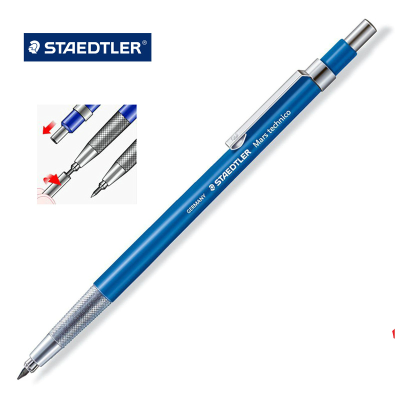 Germany STAEDTLER 780C Mechanical Pencil 2.0mm Drawing Designing Sketching Pencil Designer Dedicated Pencil Automatic Pencil german staedtler 255 advanced automatic pencil refills 2b hb 0 7 0 5mm