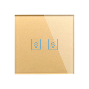 Image 5 - בריטניה חכם בית אור קיר מגע מתג, 86mm גביש זכוכית פנל, 2 כנופיית 1 דרך קיר טקט מתג, AV 180 250V, 50 W