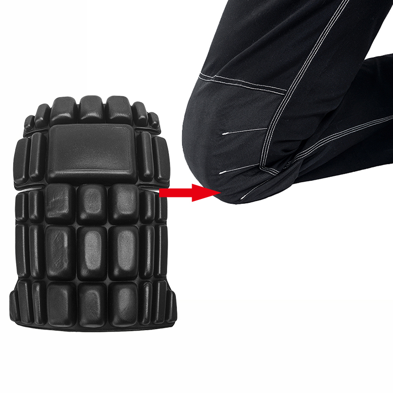 2pcs CE Eva knee pads for work kneelet for professional working pants knee protective removable kneepads safety accessories bauskydd ce eva knee pads for work kneelet for work pants genouillere knee protection detachable removable knee pads kneepads