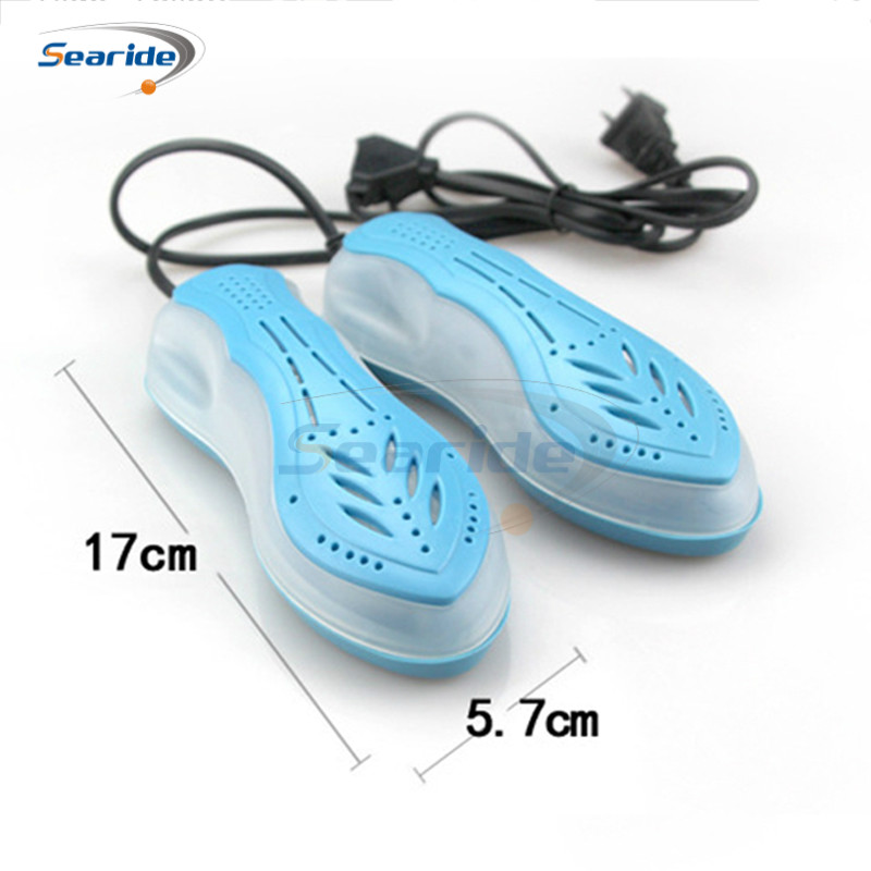 Searide Telescopic Protable Electric Shoe Dryer for Footwear Ultraviolet Shoe Sterilizer Deodorant Warmer Heater Dehumidifier lucog electric shoe dryer boot warmer uv sterilizer dryer for shoes footwear heater deodorant anti bacterial dehumidify