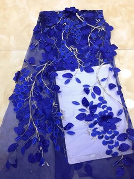 good looking SYJ-945 bridal lace fabric luxury 3d flower african french lace fabric tulle lace fabric
