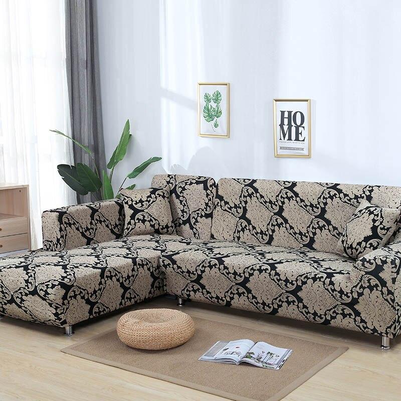 Housse de canapé élastique housse de canapé extensible protection de meubles canapé d'angle housse de canapé serviette 1/2/3/4 places housse de canap