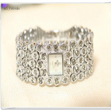 New Hot-selling Quartz Movement Watch High-end Linked List Full Rhinestone Pearl Mother-female