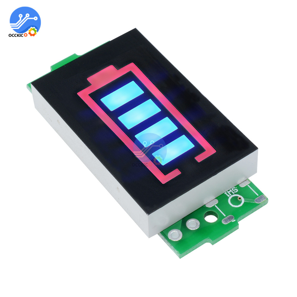 BMS 1S 2S 3S 4S 6S 7S Li-po Lithium 18650 Battery Capacity Indicator Power Bank Charge Meter Power Level LED Display