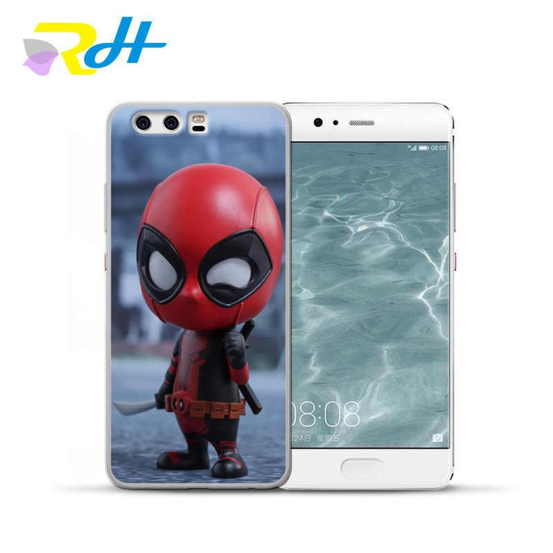 Para funda Huawei P10 lite caso Deadpool serie para Huawei P9 lite 2019 de moda para P10 Lite P9 Lite p10 más Coque Etui