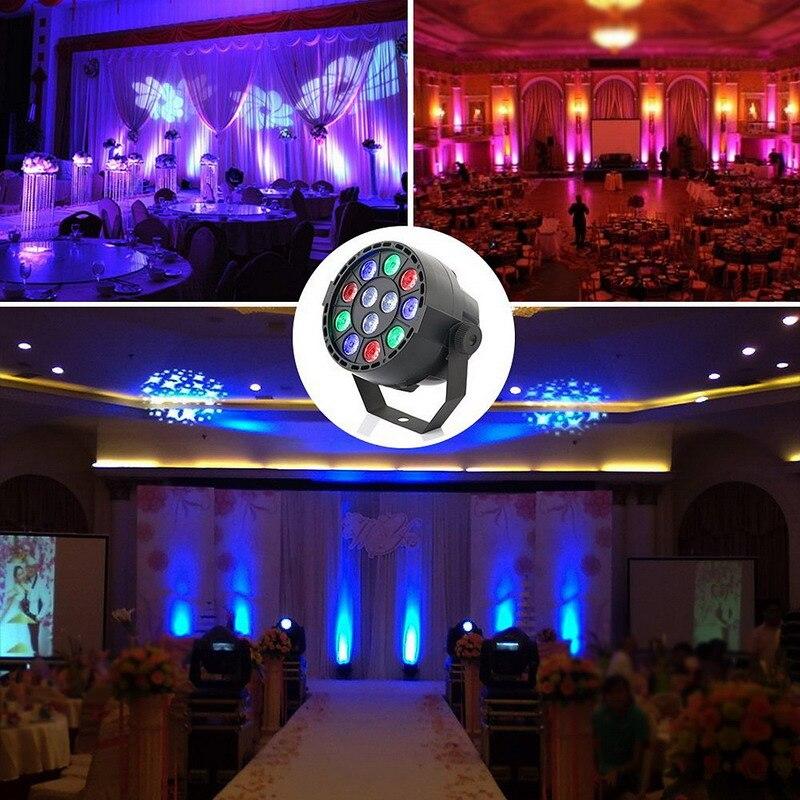 1 PC Professional LED Stage Lights 15W DMX-512 RGB LED Stage PAR12 Light Lighting Strobe Party Disco DJ KTV Show T2