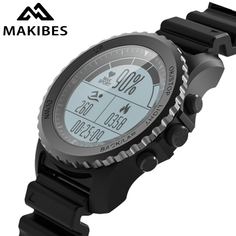 039f059c87e6 Makibes G07 GPS reloj Sport Smart Watch impermeable buceo deportes ritmo  cardíaco Bluetooth Smartwatch