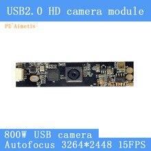 PU`Aimetis HD 800W AF Autofocus SONY IMX179 Mini Surveillance camera 3264*2448 15FPS Audio support USB camera module