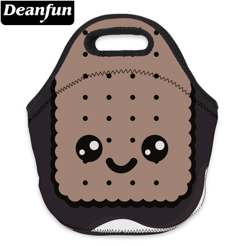 Deanfun 3D Printed Cute Women Neoprene Lunch Bag With Zipper For Children Picnic 73033