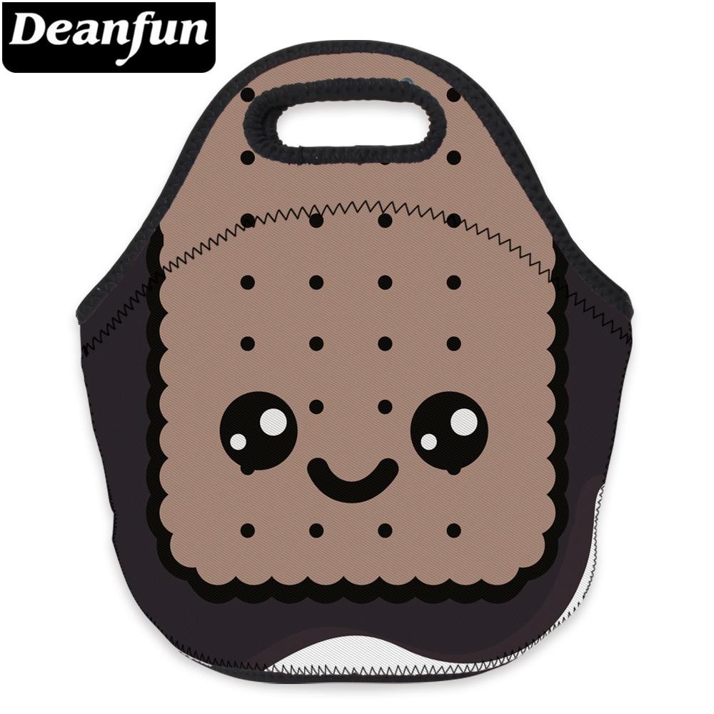 Deanfun 3D Printed Cute Women Neoprene Lunch Bag With Zipper For Children Picnic 73033
