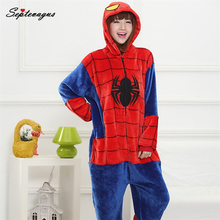 Маскарадный костюм на Хэллоуин для взрослых/детей, костюм Человека-паука, костюм «Покемон Стич», зимняя Пижама с животными, детские костюмы; traje «Человек-паук»