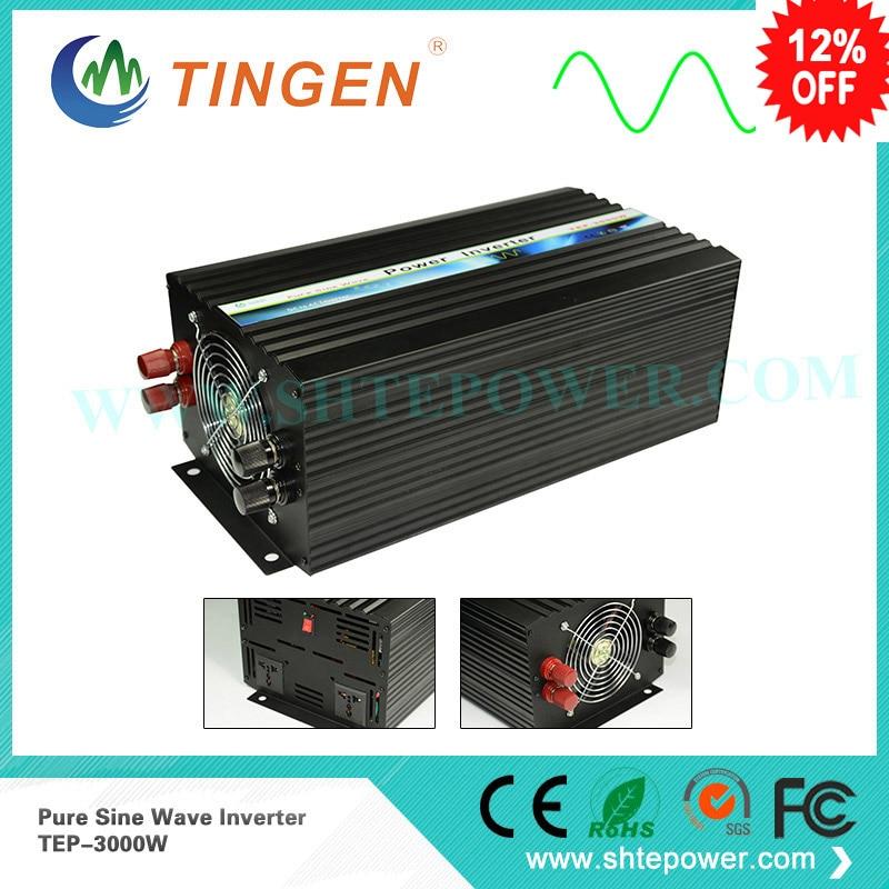 DC12V 24V to AC 100V~120V/220V~240V Off Grid Pure Sine Wave Solar Power Inverter 3000w 2000w dc12v 24v ac110v 220v off grid pure sine wave single phase power inverter with charger function surge power 3000w