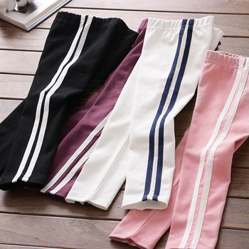 2019 Summer  New Girl Side Stripe Sports Wind Bottom Pants Children's Leisure Pants