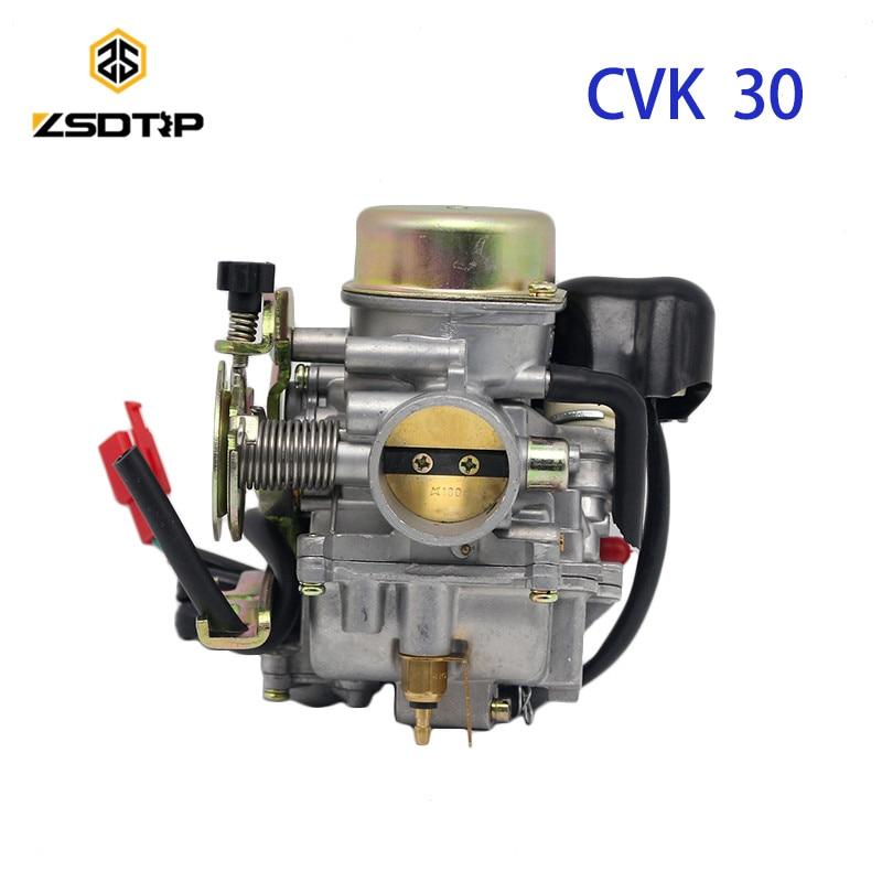 ZSDTRP Motorcycle engine power modify CVK30 30 mm carb carburetor case for Suzuki AN250 GY6 250 cc scooter ATV