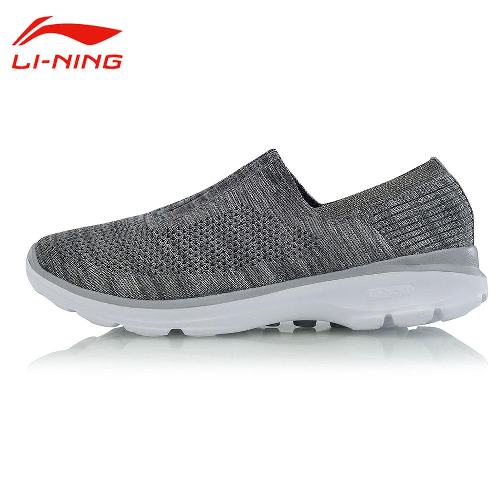 Li-ning hommes classique coussin sans lacet chaussures de marche léger respirant Li Ning baskets doublure facile marcheur chaussures de sport AGCM101