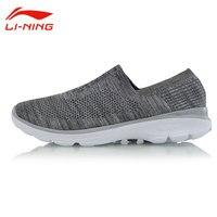 Li-Ning của Nam Giới Cổ Điển Đệm Trượt-On Walking Giày Ánh Sáng Thoáng Khí Li Ning Giày Lót Dễ Dàng Walker Giày thể thao AGCM101