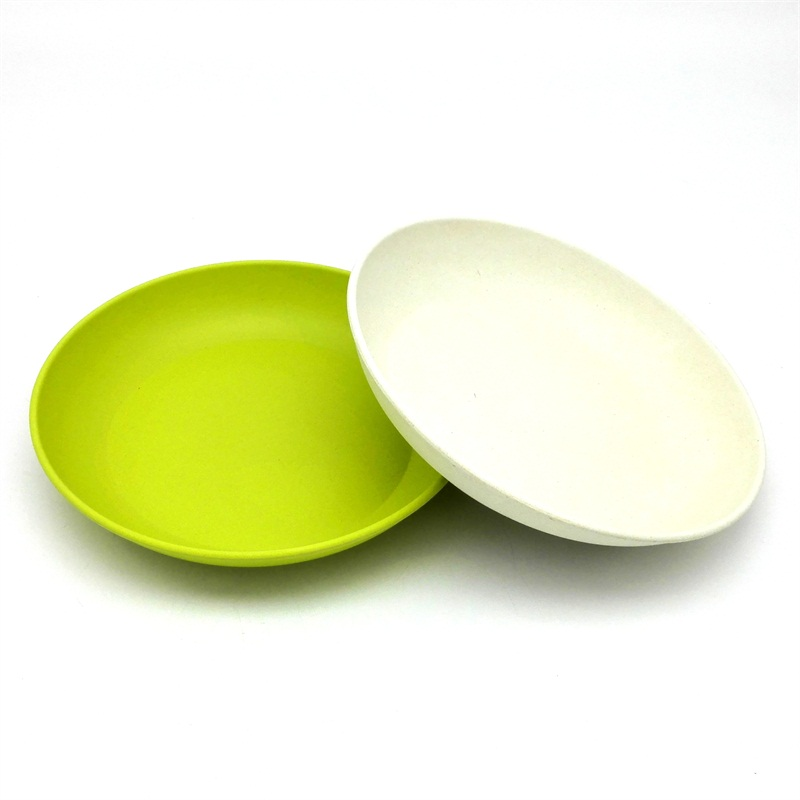 Us 16 08 46 Off 4pcs Deep Dishes Dinner Plate New Design Bowls Bamboo Fiber Cake White Blue Plates Designer In From Home