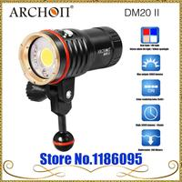 ARCHON DM20 Upgrade DM20 II ( WM26 II) Aluminum Waterproof 6000 LM 4 Color Light Tint Diving LED Flashlight Torch Battery
