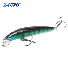 Fishing Lure in Bait Deep Swim Hard Bait Fish Tackle 10CM 7 5G Float Minnow Fishing Wobbler Japan Pesca Crankbait 2 cheap River Reservoir Pond Ocean Boat Fishing Ocean Rock Fishing stream Ocean Beach Fishing Lake ZHA00H59 Zacro Artificial Bait