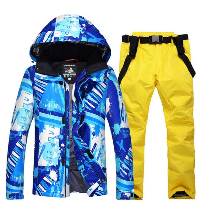 e9d719ee4d winter outdoor snow sports men s ski suits waterproof windproof  snowboarding clothes men skiing coats and trousers suit