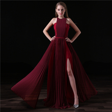 Long Evening Dresses 2018 Floor Length Prom Dress Chiffon