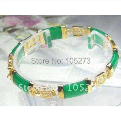 Beautiful Jewellery Green Jade Bracelet 8''inchs New Arrive Fashion Women's Girl's Christmas Gift Jewelry Free Shipping FN2392