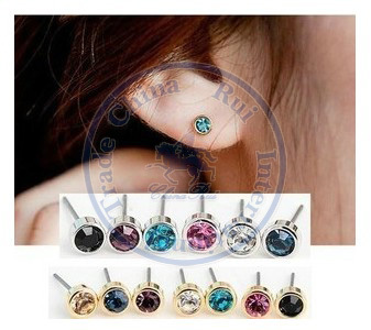Stud Earrings ear rings Fashion for women Girls lady simple small rhinestone cystal desgin