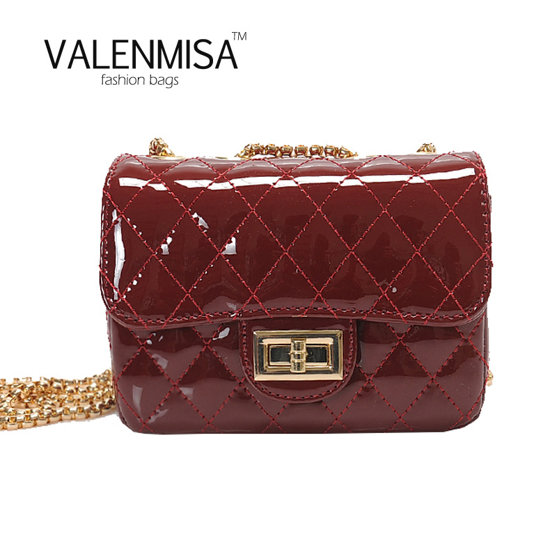 VALENMISA Women Fashion Small Jelly Bags Handbags Women Famous Brands Shoulder Bag Chain Women Crossbody Bag Lock Messenger Bag valenmisa women famous brands small mini lock jelly messenger bag luxury handbags women bags designer crossbody bags for women