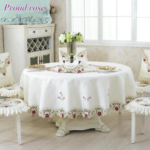 European Rural Embroidered Round Table Cloth Hotel Decor Tablecloth Table Cover Modern Home Table Decoration Free Shipping