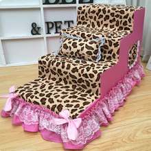 Coral velvet lace pet stair High density sponge dog step ladder Dog training Waterproof interlayer Customizable