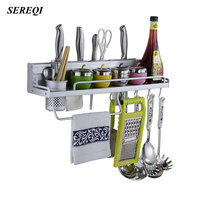 Multifunction Kitchen Storage Rack For Seasoning Bottles Knife And Fork Cooking Tools Storage Finishing Space Saving Organizer