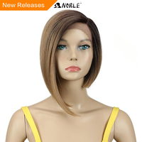 Noble Wigs For Black Women Straight Synthetic Lace Front Hair 12 Ombre 6 Color Lace Front Wig Cosplay Blonde Lace Front Wig