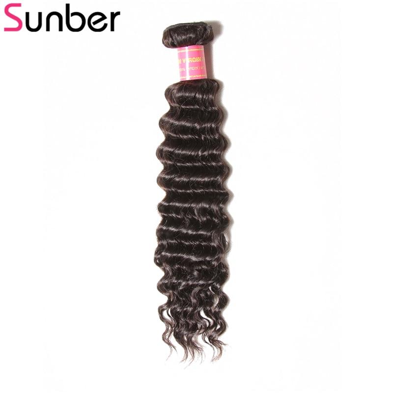 Sunber Hair Brazilian Deep Wave Human Hair Bundle 1 Piece Only 12-26 Inch Remy Hair Weaving Free Shipping ...