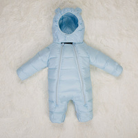 Baby Winter Coveralls Baby Down Warm Clothing Harbin Children's Boys and Girls Climbing Clothes White Duck Down 90%