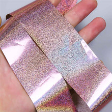 A# 2017 fashion women diy 1 roll of 4 * 100 CM Laser Holo Holographic Nail Foils Nail Art Transfer Stickers  #1104