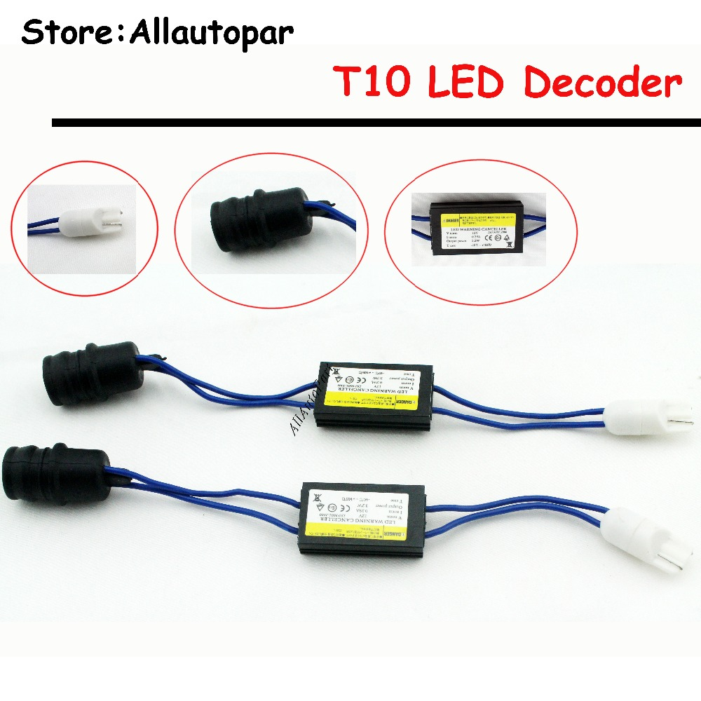 2pcX Auto T10 T15 W5W Canbus Error Warning Light Car 5W5 W16W Dome Festoon C5W C10W Canceller Decoder Resistor COB Parking Ligh c7 hid can bus car xenon light error warning canceller decoder capacitor canbus capacitors computer decoder