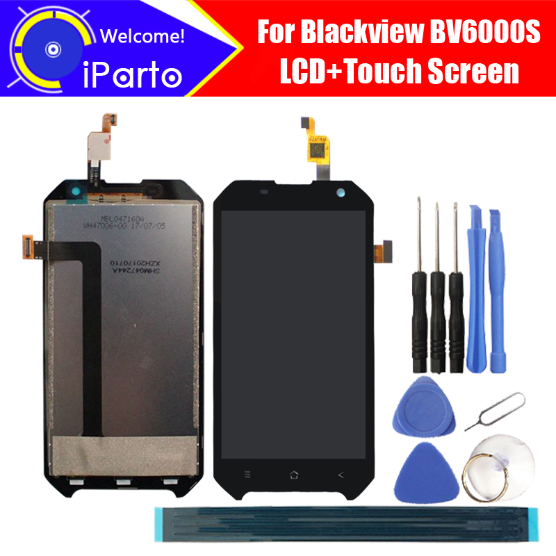 Blackview BV6000S LCD Display+Touch Screen 100% Original New Tested Digitizer Glass Panel Replacement For BV6000S+Tools+Adhesive