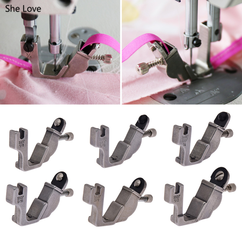 She Love Elastic Shirring Presser Foot Industrial Computerized Lockstitch Sewing Machine Parts Accessories Tools
