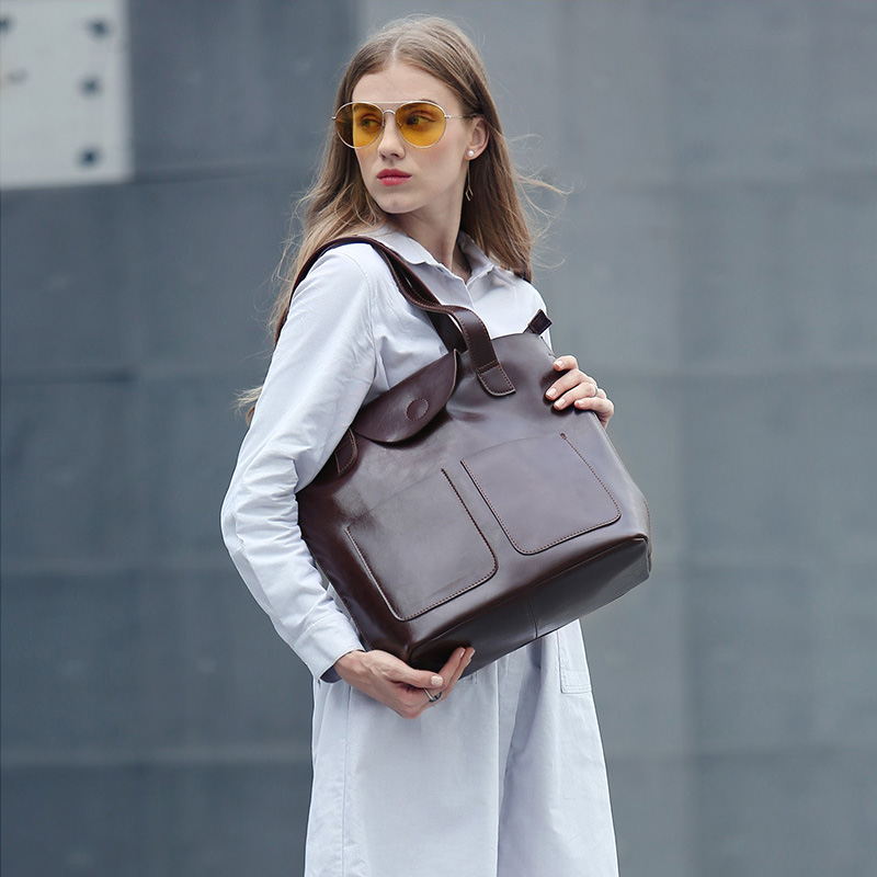 Hot Sales Genuine Leather Women Handbag Messenger bag Real Cow Leather Ladies Shoulder Bags Summer handbags