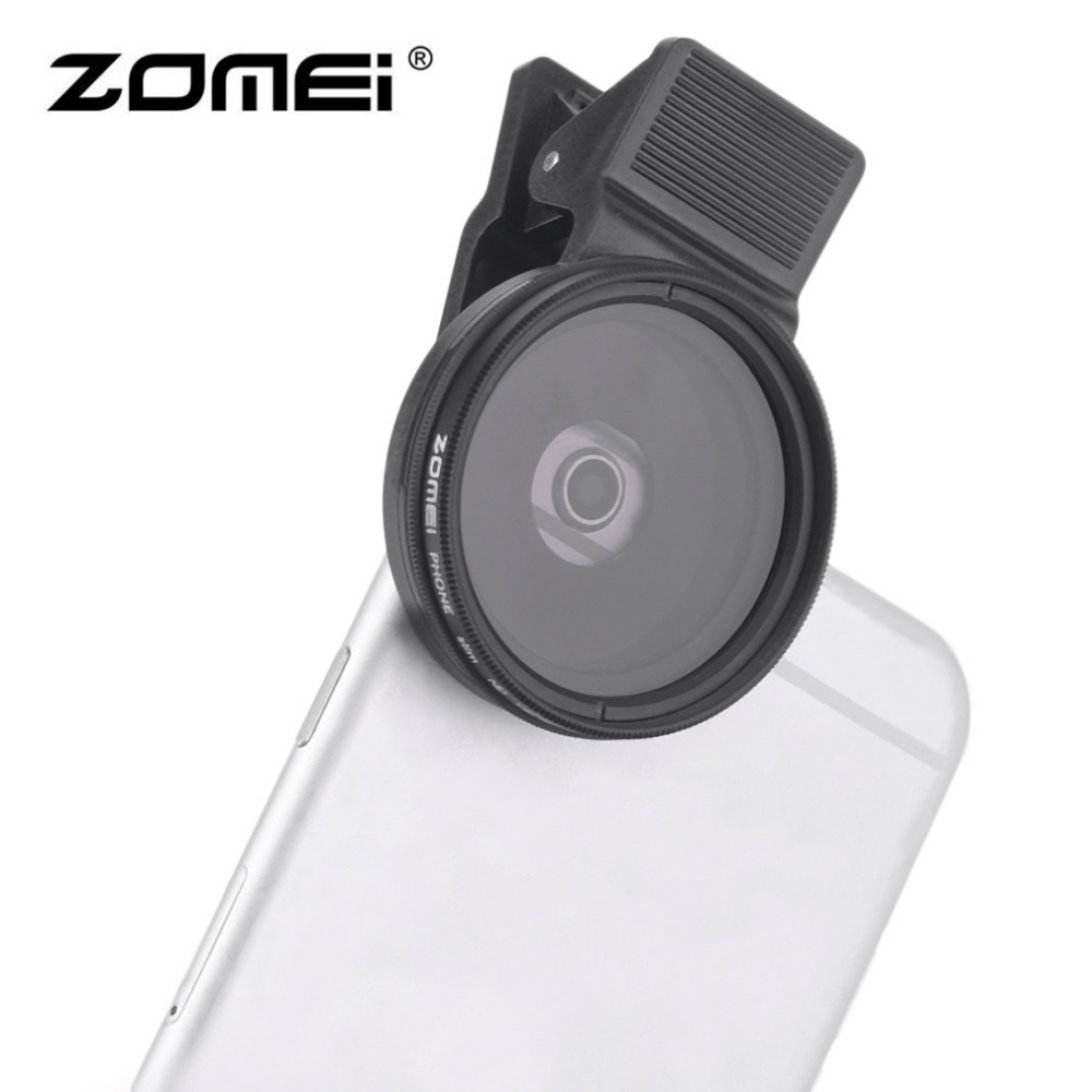 3 In 1 ZOMEI Universale 37 MM CPL + Close Up Filter + ND2-ND Fader Filtro Kit Professionale M1 Phone Lens Filter Per iPhone samsung