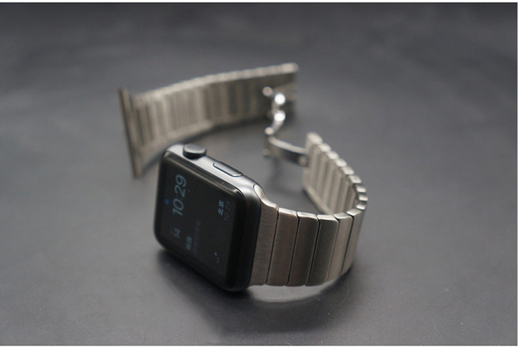 TOP Quality Black Silver Link Bracelet For Apple Watch Band 42mm 38mm Made By 316L Stainless Steel With extra Two Links As Gifts