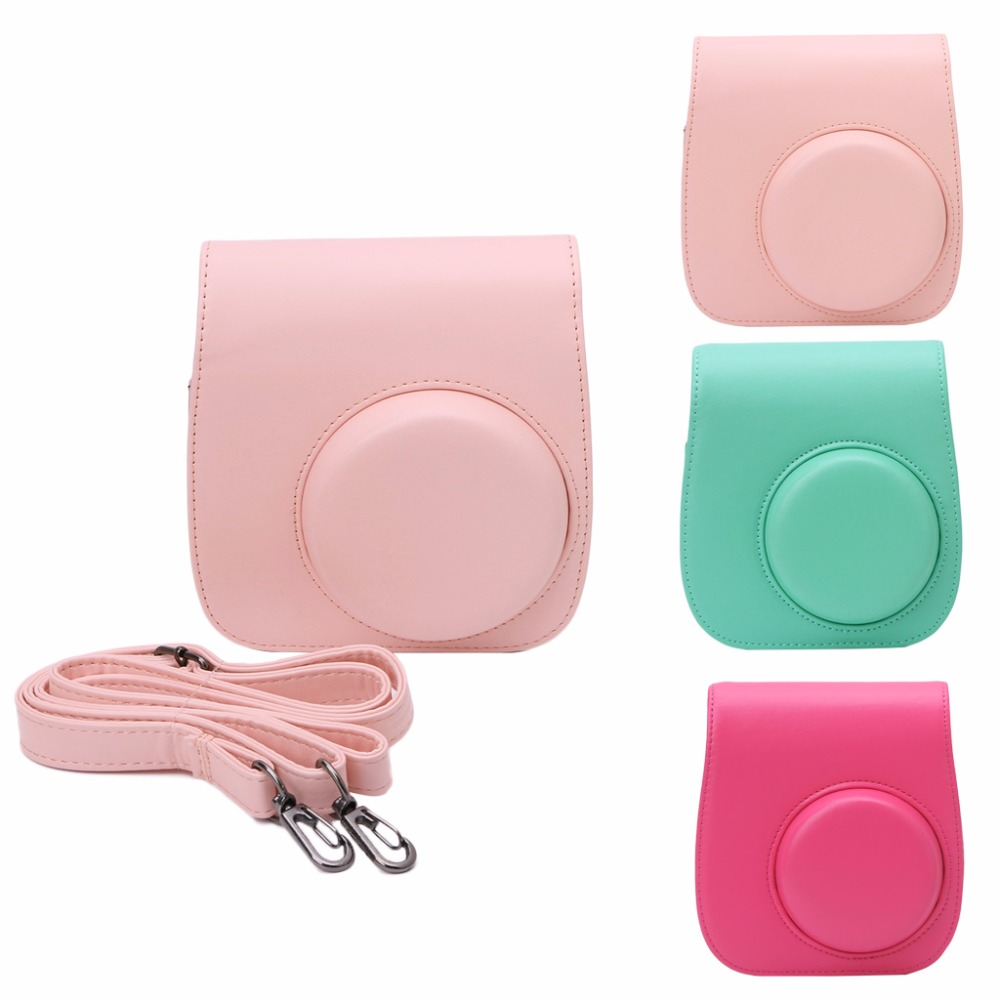 OOTDTY Candy color Camera Case Shoulder Bag for Fuji Polaroid Instax Mini 8