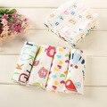 6 unids/lote newborn baby face towel alta calidad 21*21 cm square algodón carácter toalha toallas para bebes infantil hand towel c23